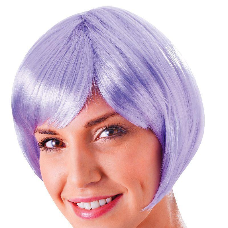 Womens Flirty Flick. Lilac. (Wigs) - Female - One Size Halloween Costume