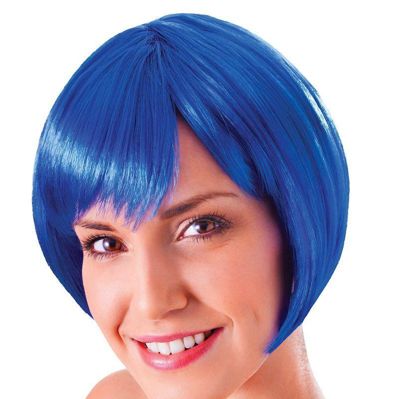 Womens Flirty Flick. Blue. (Wigs) - Female - One Size Halloween Costume