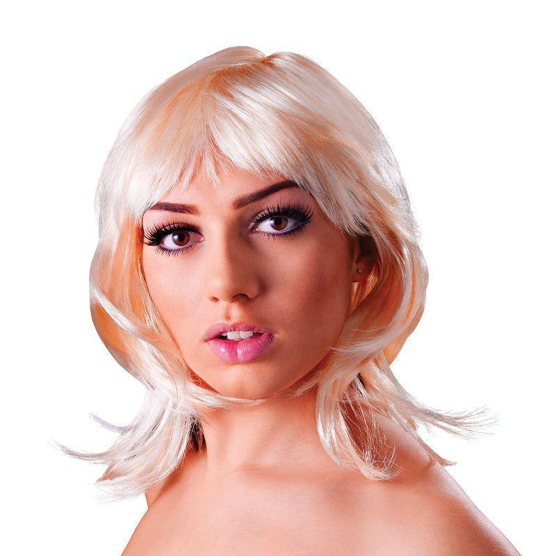 Womens Glamour Layered. Blonde. (Wigs) - Female - One Size Halloween Costume