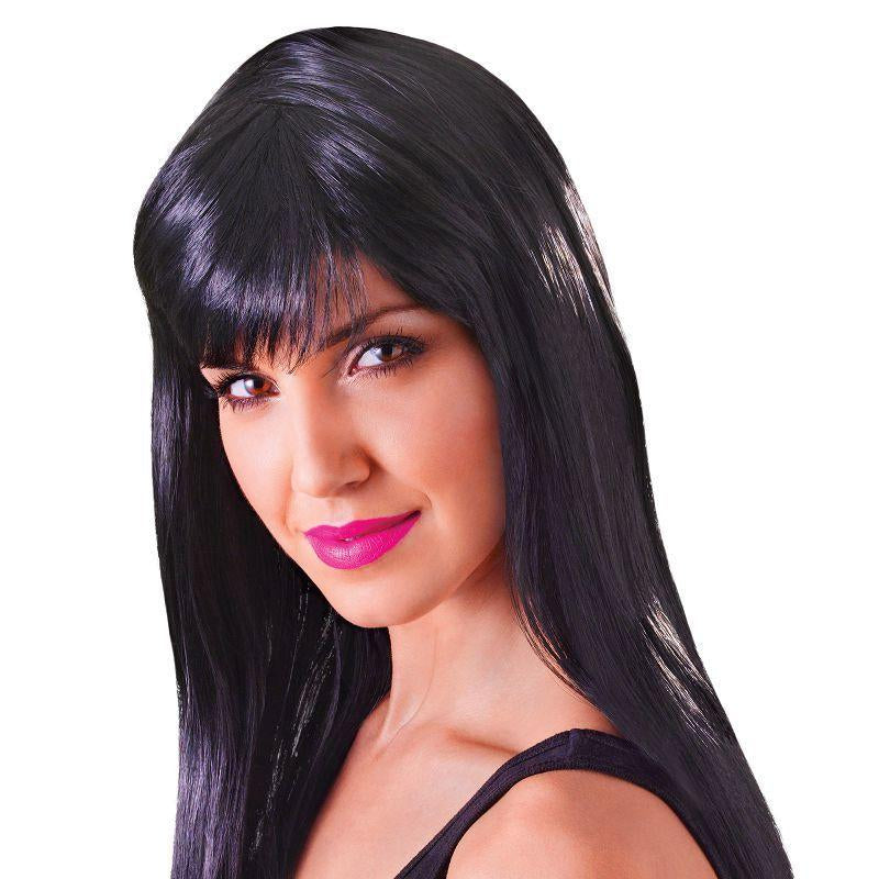 Womens Passion Long. Black. (Wigs) - Female - One Size Halloween Costume