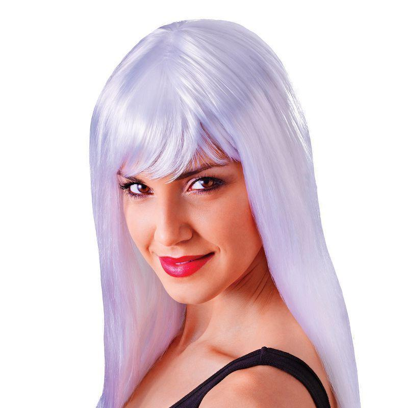 Womens Passion Long. White. (Wigs) - Female - One Size Halloween Costume