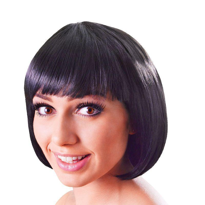 Womens Elegant Bob. Black. (Wigs) - Female - One Size Halloween Costume