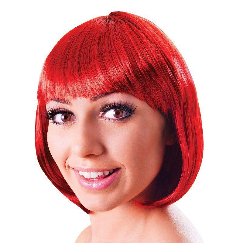 Womens Elegant Bob. Red Passion. (Wigs) - Female - One Size Halloween Costume