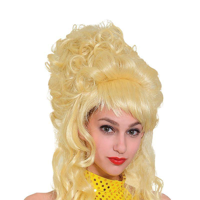 Beehive/Panto Wig Blonde (Wigs) - Female - One Size