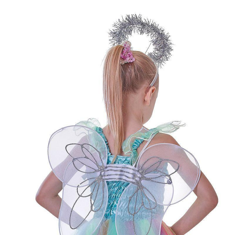 Girls Angel Kit. Wings & Halo. (Childrens Costumes) - Female - One Size Halloween Costume