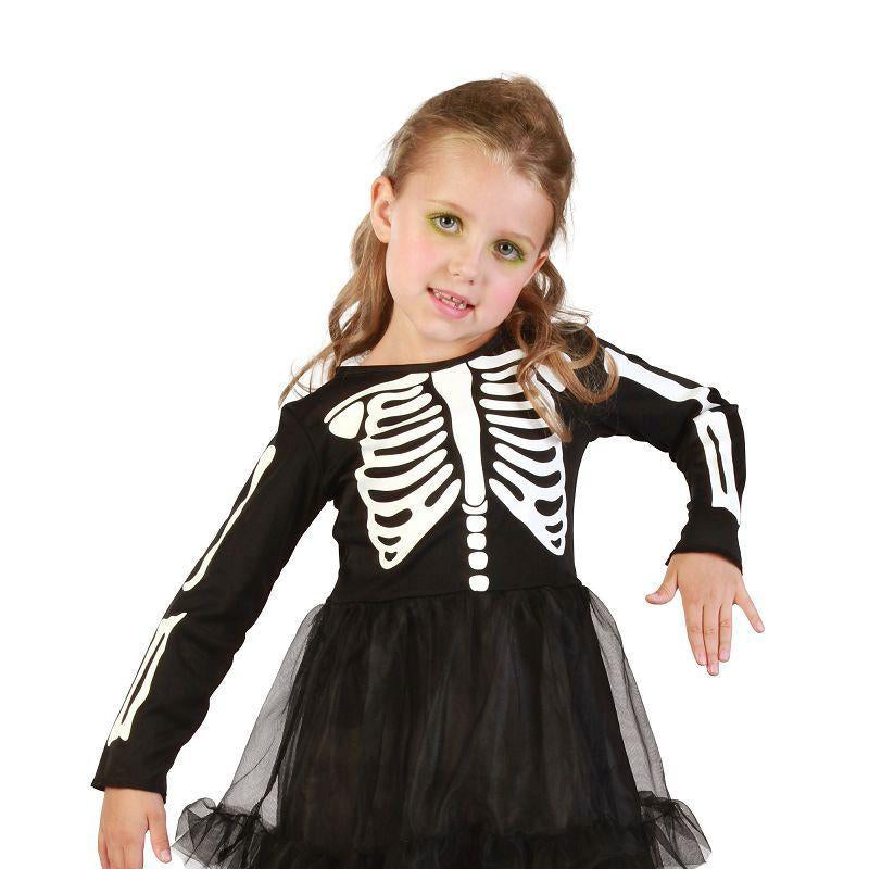 Girls Skeleton Girl Toddler Childrens Costumes - Female - One Size Halloween Costume