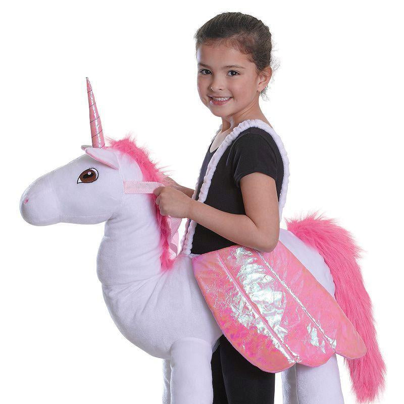 Girls Riding Unicorn( Childrens Costumes) - Female - One Size Halloween Costume
