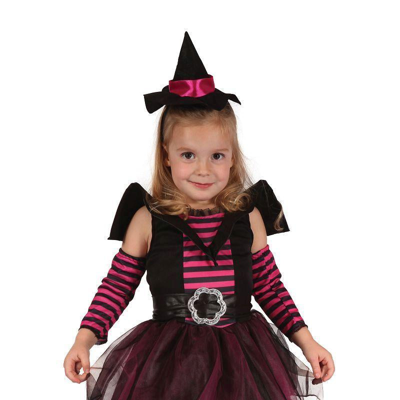 Girls Witch Cute. Toddler. (Childrens Costumes) - Female - To Fit Child Of Height 90cm-100cm Halloween Costume