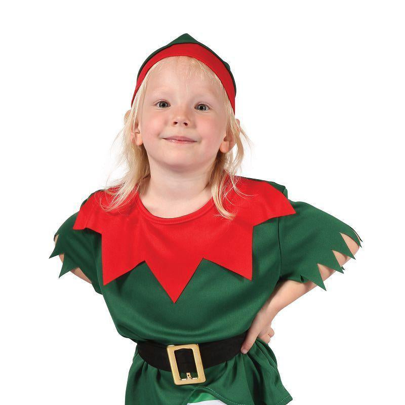 Girls Santa Helper Girl Toddler. (Childrens Costumes) - Female - To Fit Child Of Height 90cm-100cm Halloween Costume