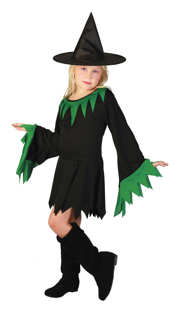 Witch Small Childrens Fancy Dress Costumes Girls Black