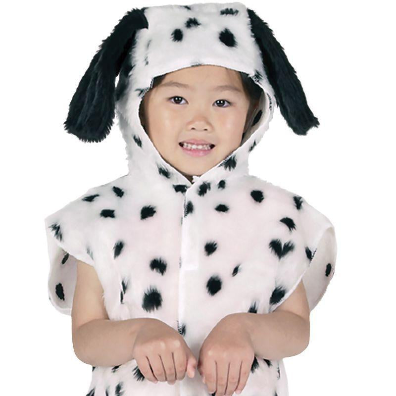 Dalmation Fur Tabbard Childrens Costumes - Unisex - One Size.