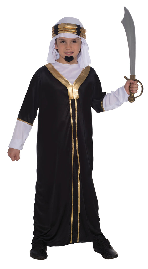 Sultan Large Childrens Fancy Dress Costumes Boys Black