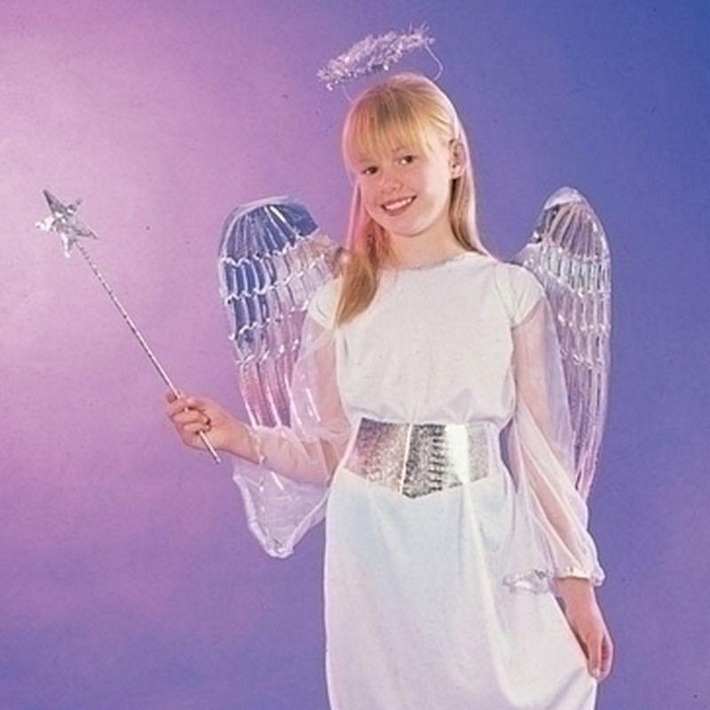 Girls Angel. Budget (Medium) Childrens Costumes - Female - Medium, 7-9 Years. Halloween Costume