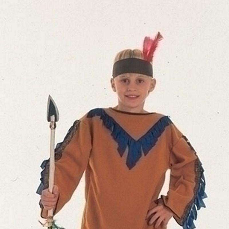 Boys Indian Boy.budget (Small) Childrens Costumes - Male - Small, 5-7 Years. Halloween Costume