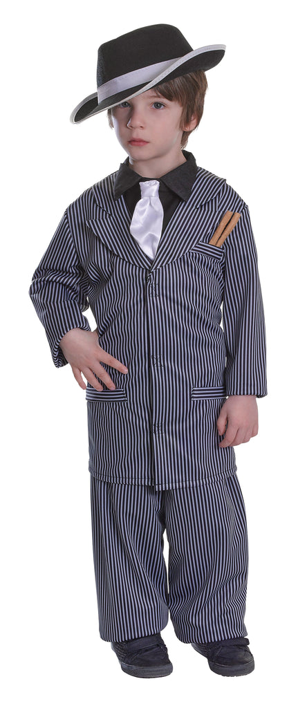 Gangster Boy Costume (S) (Childrens Costumes) Male Small