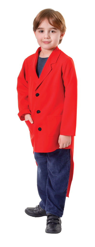 Tailcoat Red (M) Pack Contents : Tailcoat Male Kids To fit child of height 122cm 134cm Colour : Red