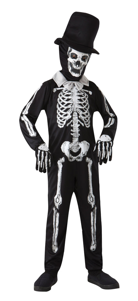 Skeleton Bone Zombie (S) (Childrens Costumes) Male Small