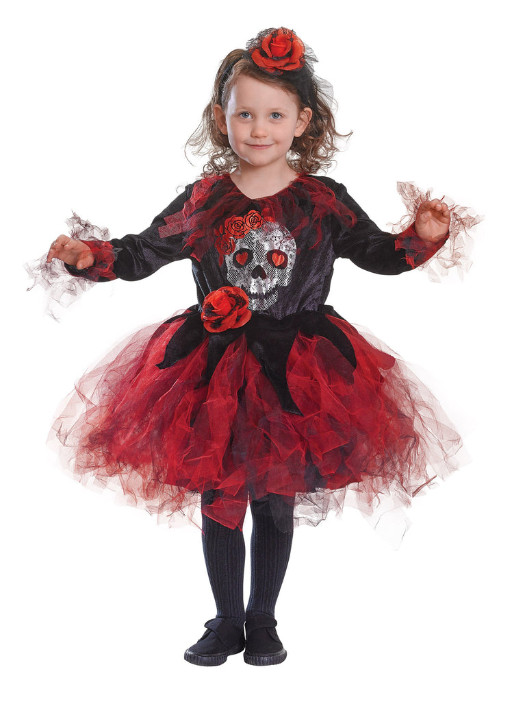 Skull TuTu Red Black (M) (Childrens Costumes) Female Medium
