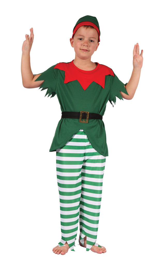 Santa Helper Boy (L) Male Kids To fit child of height 146cm 159cm Colour : Green Fancy Dress portsmouth party Halloween