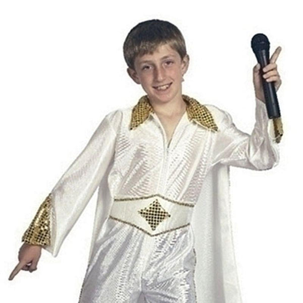 Boys Rock Star/Elvis (Medium) Childrens Costumes - Male - Medium, 7-9 Years. Halloween Costume