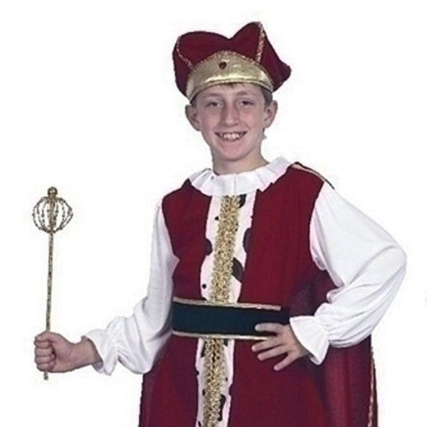 Boys Medieval King (Xl). Childrens Costumes - Male - 158cm Halloween Costume
