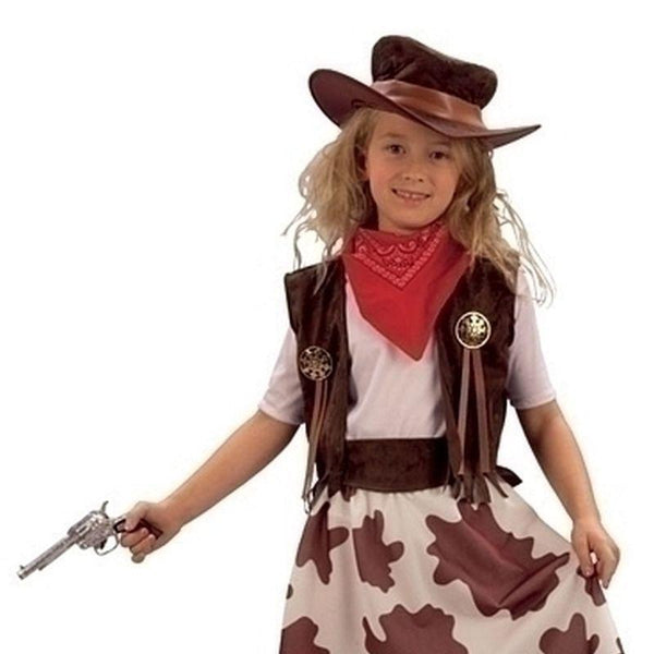 Girls Cowgirl / Cowprint Skirt (Xl). Childrens Costumes - Female - 158cm Halloween Costume