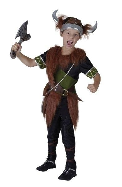 Viking Boy Large Childrens Fancy Dress Costume Boys Large 9 12 years Brown