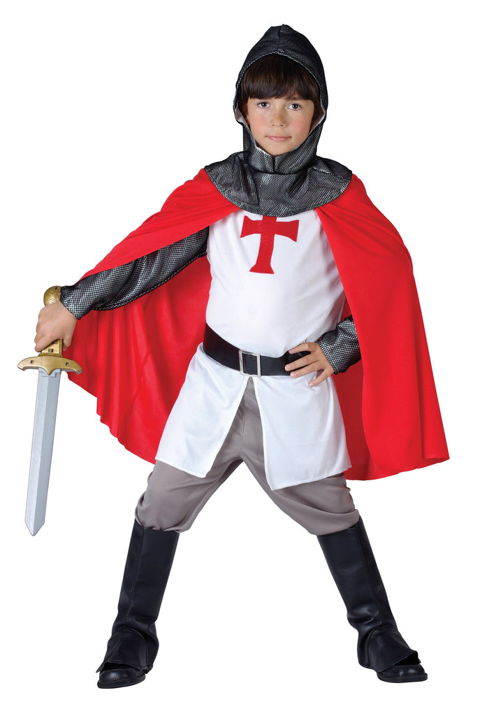 Crusader Boy Small Childrens Fancy Dress Costume Boys Small 5 7 years White Red Silver