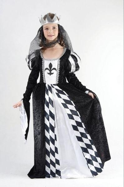 Chess Queen Medium 7 9 years Black White Grey