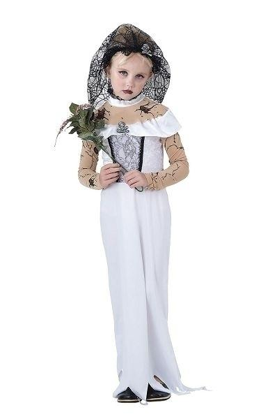 Zombie Bride Large 9 12 years White Black