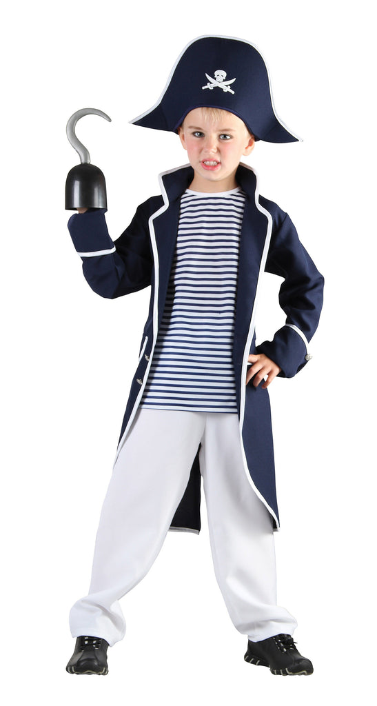Pirate Captain Small Childrens Fancy Dress Costumes Boys 5 7 years Blue White