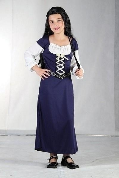 Maid Marion Small Childrens Fancy Dress Costumes Girls 5 7 years Blue White