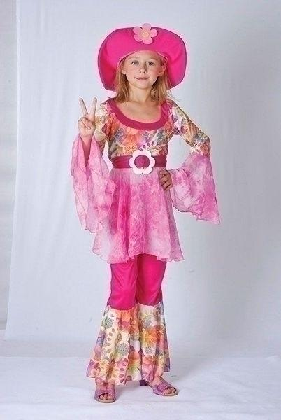 Hippy Diva Large Childrens Fancy Dress Costumes Girls 9 12 years Pink