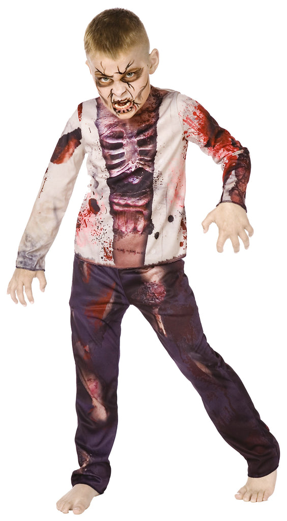 Zombie Boy 3d 110cm Children's Fancy Dress Costumes Boys 110cm Multi