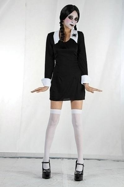 Creepy Schoolgirl Medium Childrenss Girls Medium 7 9 years Black