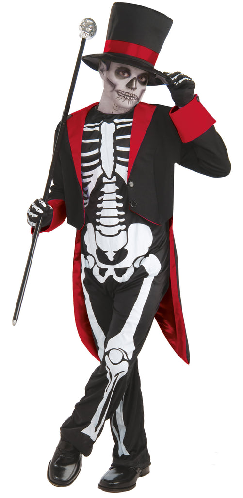 Mr Bone Jangles Large 9 12 years Black White Red