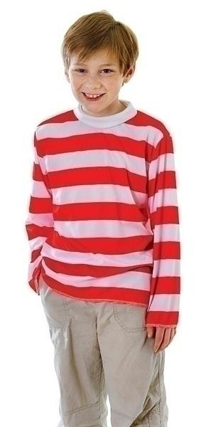 Red White Striped Top Medium 7 9 years