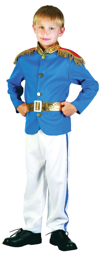 Prince Medium Childrens Fancy Dress Costumes Boys blue