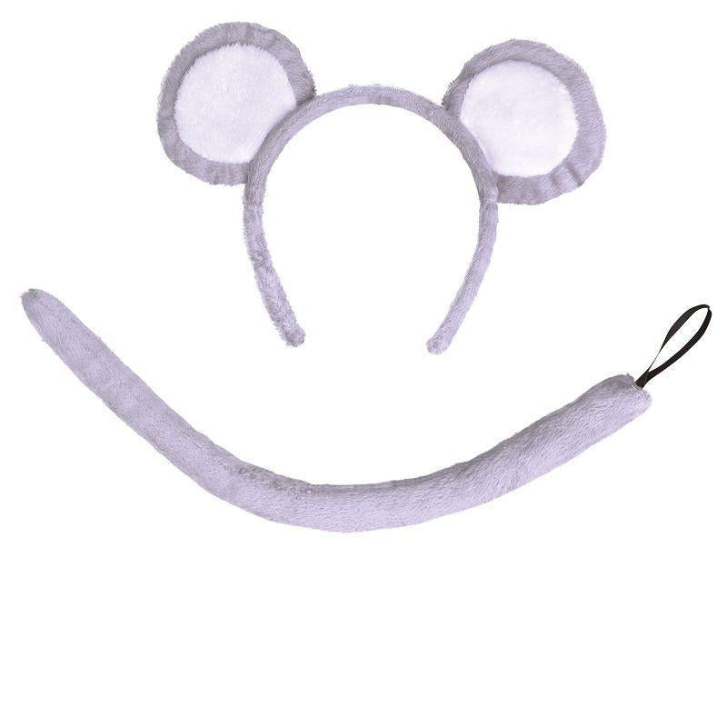 Mouse Set Grey (Ears + Tail). (Instant Disguises) - Unisex - One Size