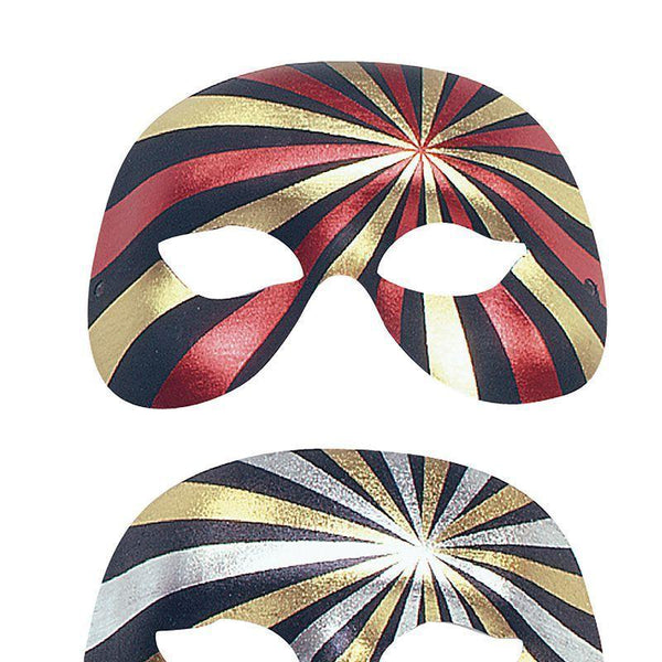 1/2 Face Forehead/Eyes, 2 Colour (Eye Masks) - Unisex - One Size