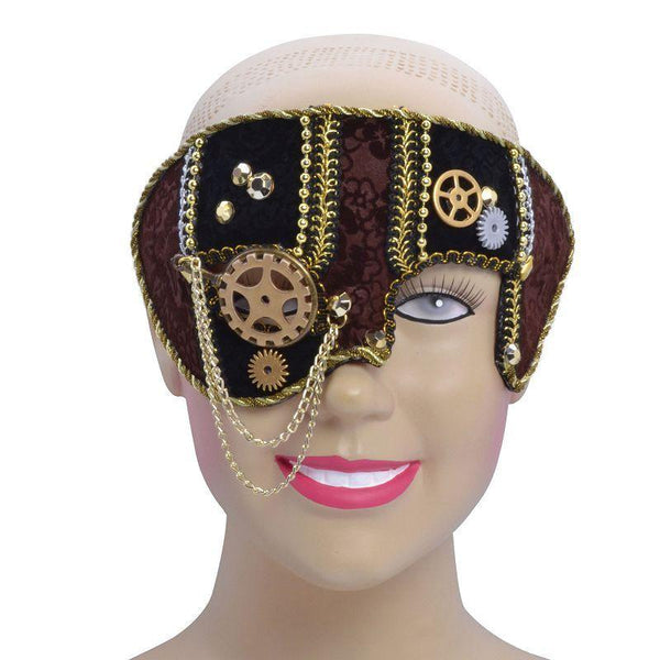 Womens Steampunk / Star Wars Mask. Male (Glasses Frame). (Eye Masks) - Female - One Size Halloween Costume
