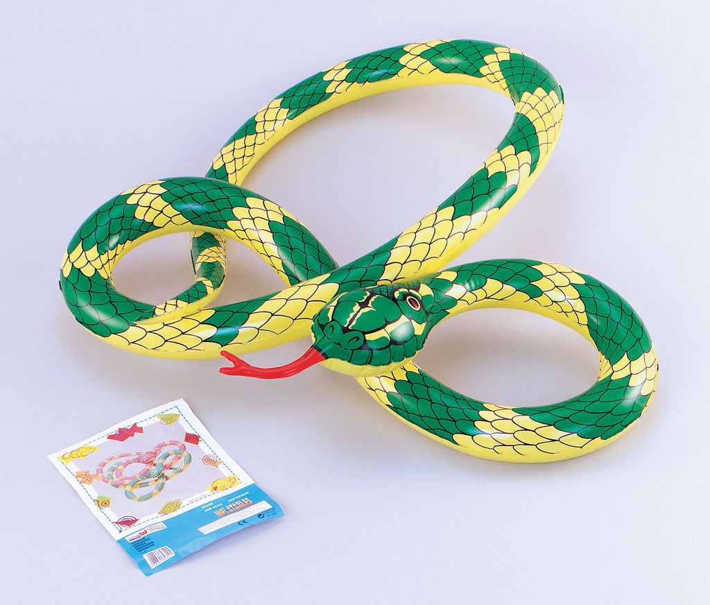 Inflatable Snake Inflatable Items One Size  Yellow/Green