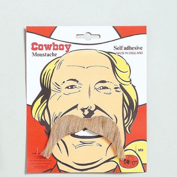 Mens Cowboy Tash. Blonde (Moustaches And Beards) - Male - One Size Halloween Costume
