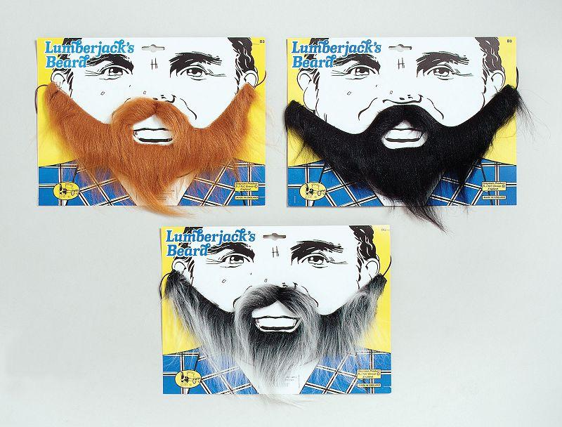 Lumberjack Beard Black Moustaches And Beards Mens One Size