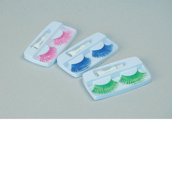 Womens Eyelashes. Pink (Miscellaneous Disguises) - Female - Pair Halloween Costume