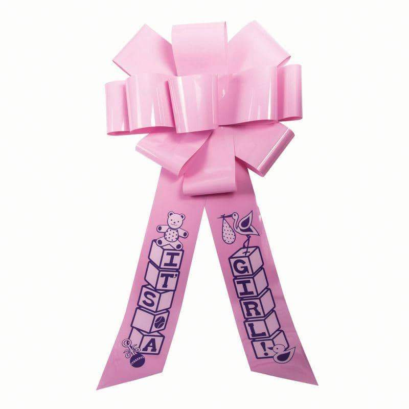 Celebration Door Bow Its A Girl Pink