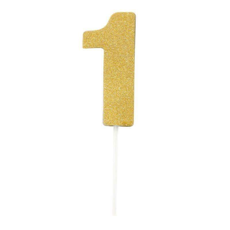 Diamond Cake Toppers Gold No. 1