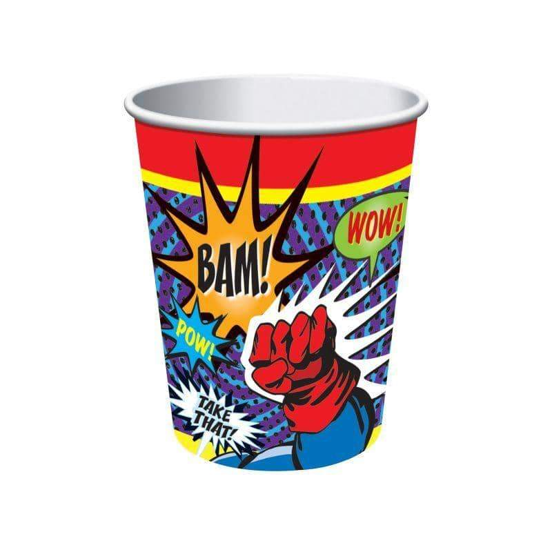 Super Hero Paper Cups