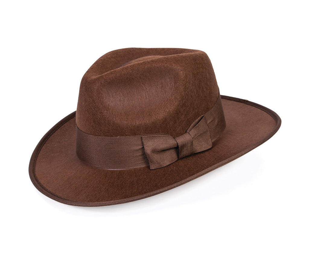 Adventurer Fedora Costume Accessories Male One Size