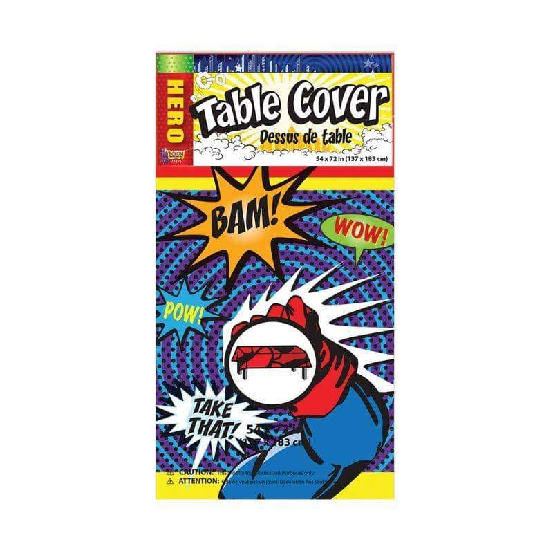 Super Hero Party Ware Table Cover